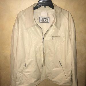 authentic vintage versace leather coat